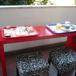 Petit déjeuner sur le balcon