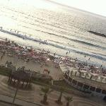View from room onto Tel Aviv beach