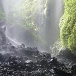 walking through the waterfalls