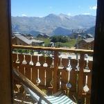 Vue du balcon Goelia La Toussuire