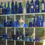 Blue collection in living room