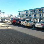 View of the resort and parking