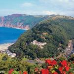 Panaromic view of Lynmouth & The Captains House