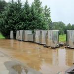 Stainless Steel Wine Vats On The Patio