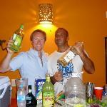 Rami and Mulv's mixing margarita!!!
