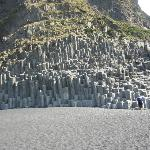 In Víkurfjara beautiful basalt columns