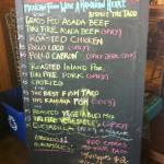 this is the current menu...tacos only!