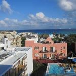 vue du toit de l hotel