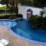 Swimming pool area, not that big! but kids will love it