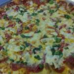 The Soprano Pizza - pepperoni, grilled chicken breast, roasted red peppers and fresh basil