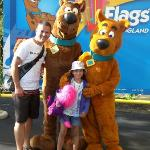 With Scooby and Scrappy Doo....