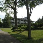Hotel Looking up the Path from Sister Bay