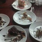 desserts at cosimo's. great food. wonderful desserts.