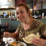Teresa with the Vegetarian Platter
