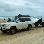 Sensational beach driving with the 4WD and Off Road Camper