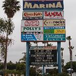 Close to marina