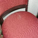 Stain on chair in my room. Time to renovate rooms, not add floors!