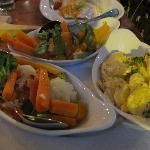Il piatto di verdure (comprese nel piatto principale a base di pesce)
