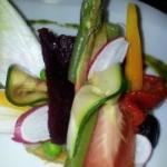 Tartine de légumes de saisson cuits,crus et confits