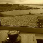 morning coffee overlooking Loch Ewe