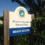 Beach access directly across from hotel