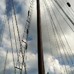 Great view of The Argia sailboat looking up.