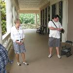 House Tour Guide on veranda