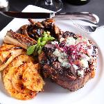 14oz Bone-In Filet of Ribeye Certified Angus Beef Steak® Grilled To Perfection