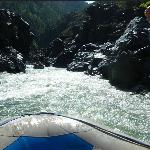 Heading into the white water