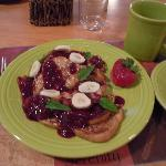 french toast with homemade mix berry puree...yum!!!