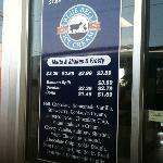 Blue Bell Ice Cream Milkshake (and scoop) Menu