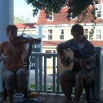 Lovely music on the deck