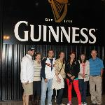 Family Pic in front of the Guinness sign
