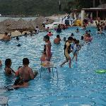 Way too many people in pool!