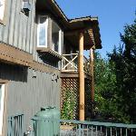 Back of Greenwood Inn, Lovebird Suite top corner