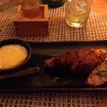 Chicken meatball robata ( amazing)