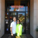 Pic of Us Outside Native Foods- Costa Mesa