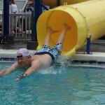 Kyle making a splash at the fun place.