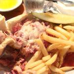 Hot Pastrami & Fries $7.95