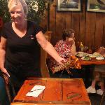 Our waitress, Judy