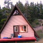 A- frame-comfortable furniture and full kitchen- nice beds