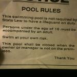 pool has crack not even able to use