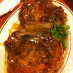 FABULOUS pork chops w/ butter sauce