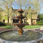 Center courtyard fountain.