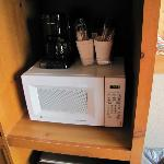 Microwave and coffee area