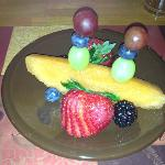 Fruit for breakfast at the Cedar House