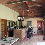 The Wine tasting Bar at Cedar House on Sound