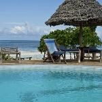 Pool with Indian Ocean in background