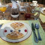 Déjeuner - Gaufres aux fruits