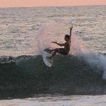 surf competition further down playa hermosa